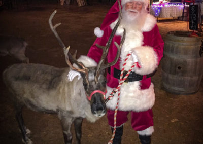 DFW Santa George C with reindeeer