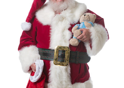 real beard Santa John for gift deliveries
