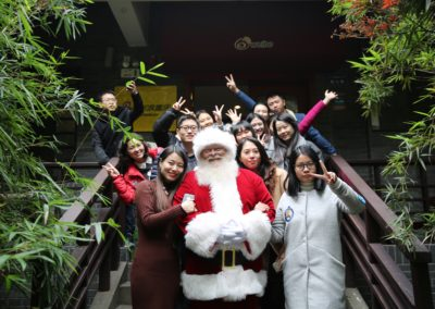 Santa Kelly - terrific Santa who brings Christmas to China