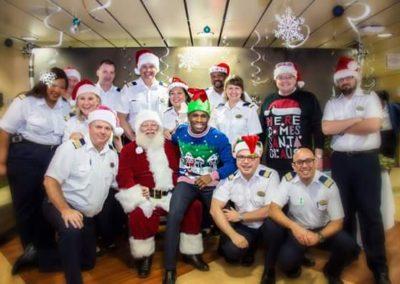 Santa Kelly on cruise ship