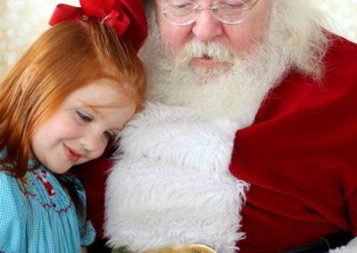 caring and loving Santa Tom