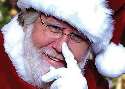 cheerful Santa Kevin for hire