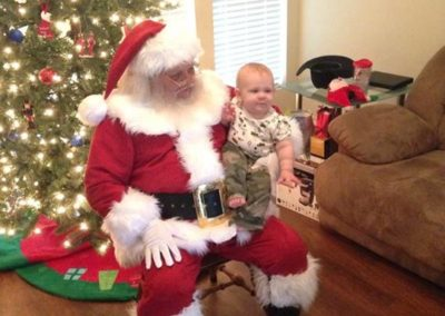 baby's first Christmas with Santa Hal